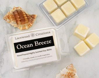 Ocean Breeze, Scented Wax Melts, Soy Wax Melts, Home Fragrance, Wax Tarts, Candle Melts, Australian Sellers, Highly Scented Wax Melts