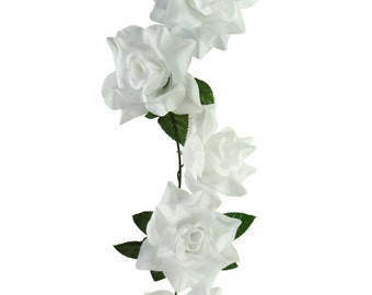 6'  White Rose Garland (Pack of 6)