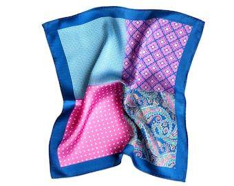 Silk Pocket Square Spring Mood Swings