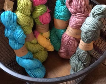 Hand dyed yarns!