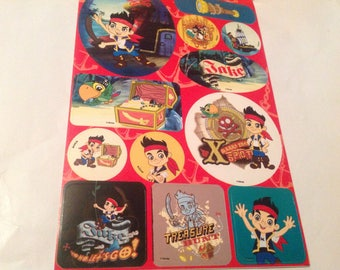 Set of Sticker sheets Jake and the Neverland pirates over 112 stickers, FREE SHIPPING