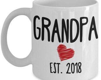 New Grandpa Mug - Grandpa Est. 2018 - Grandpa Gift
