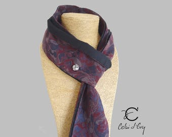 Tie reversible purple and black knot Jack.B cufflink
