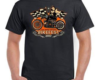 Las Vagas Bike Fest Mens Biker T-Shirt Indian Harley Motorcycle Motorbike 2416
