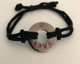 My Intent BLACK Token suede adjustable bracelet