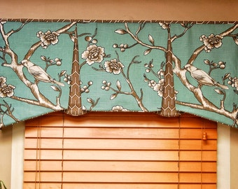 "Custom Valance EMMA Hidden Rod Pocket® Valance fits 30""- 44"" window, tailored valance, made with your fabrics, my LABOR and lining"