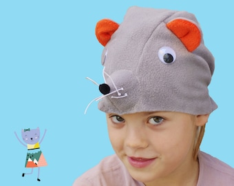 Kids costume, mouse costume hat, animal costume hat, toddler pretend play, toddler costume, kids Halloween costume