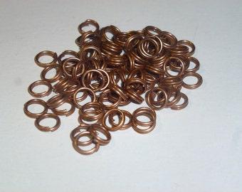 D-03352 - 50 Jumprings Copper nickel free 6mm