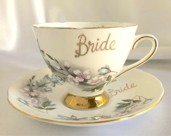 Vintage Gladstone Bride Bone China Tea Cup and Saucer