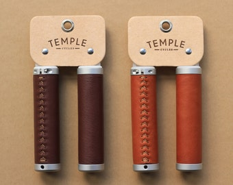 Premium Leather Bicycle Grips - Temple Cycles - Quality cycling parts and accessories