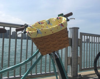Yellow Bird Basket Liner