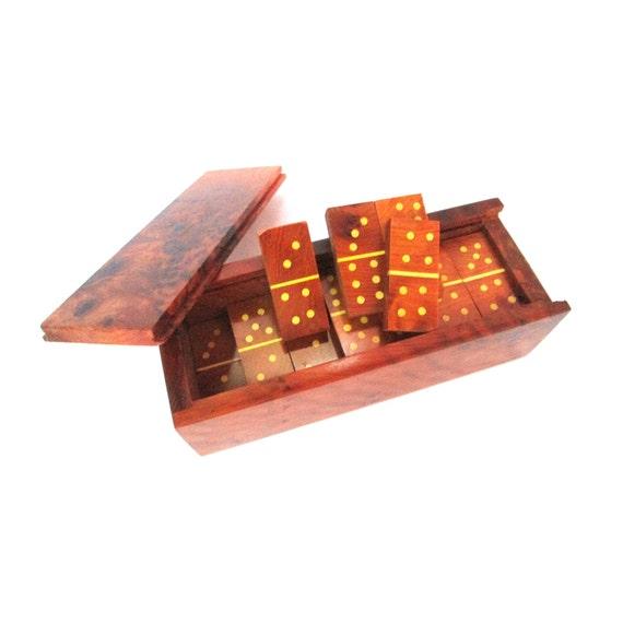 Thuja Holz Verwendung doppel 6 domino set thuja maser holz domino set mit kasten