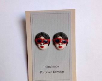 Porcelain ceramic earrings