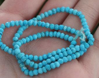 Natural Kingman Arizona Turquoise Faceted Stone Beads