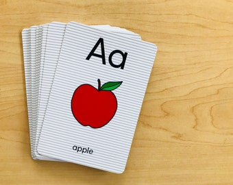 Alphabet Flashcards . Learning Materials . Preschool & Toddler Cards . Phonics Fun . Homeschool Product