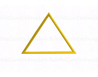 Triangle Applique Embroidery Design Instant Download