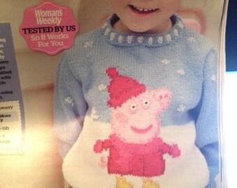 "Peppa Pig Jumper 22-24-26"" knitting Pattern"