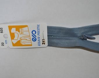 zipper invisible 22 cm non detachable blue jean Z41 533