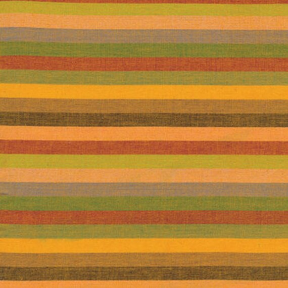 NARROW STRIPE YELLOW Woven narrow.spice Kaffe Fassett fabric sold in 1/2 yard increments