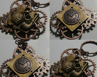 custom made steampunk keychain