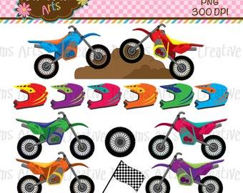 40% Off! Motorcycles/Dirt Bike Digital Clip Art Instant Download