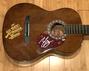 Zac Brown Band autographed signed brand new acoustic guitar with COA!