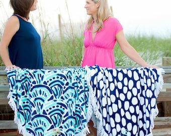 Monogrammed Beach Towels, Sand Circle, Monogram Beach Towel, Round Beach Towel, Monogrammed gifts, Bridesmaid gift, Monogram Beach Towels