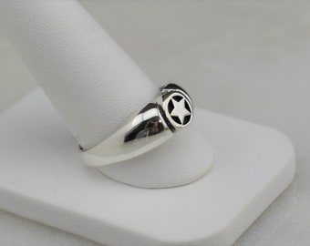Sterling Silver Pentacle Ring, size 10.75