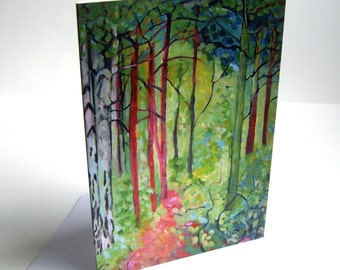 A Walk in the Woods  Greetings card