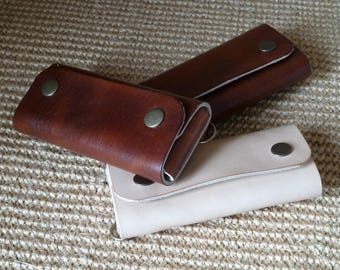 SCKLeather Handcrafted Multi Key Case in Soft Italian veg Tanned leather.