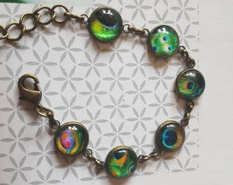 metal Peacock bracelet