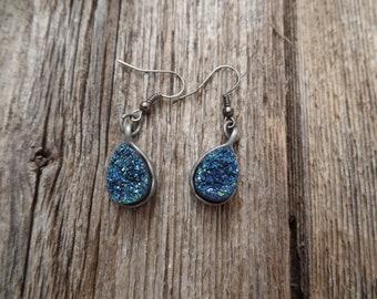 Blue Lava Rock Earrings