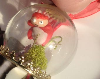 Ponyo in a Bubble Necklace