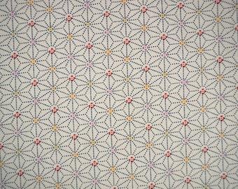 Asanoha Sevenberry Japanese cotton fabric