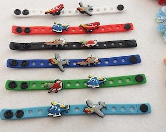 10 Planes  Silicone Bracelets Party Favors