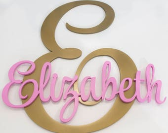 Large Wooden Letters Personalized Wall Letters Baby Name Decor Nursery Name Wall Decor Letters Wooden Letters Baby Name Sign Large Letters