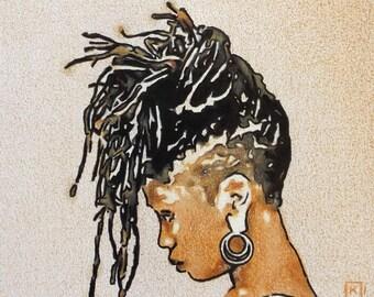 ORIGINAL ARTWORK - 'Dread' - Pencil & Ink Drawing - Kirrily Duff