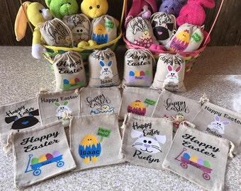 Personalized Easter Sacks, Personalized Easter Basket, Easter Sack, Easter Basket, Easter Treat Sack, Easter Treat Bag, Easter Bag