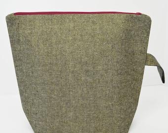 Gold Linen Medium Project Bag