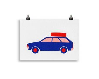 Art Print – Volkswagen Passat B1 Station Wagon