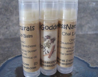 "12 ""Chai Latte"" Lip Balms  0.15 oz tubes ""Retail/Resale Value 36.00"""