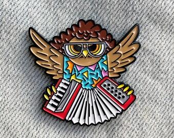 Weird Owl Yankovic Enamel Pin