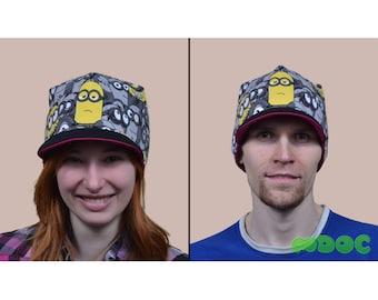 Minions Cute Kawaii Cotton Visor Beanie Hat double-sided Adult Teen Kid Men Women
