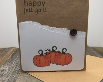 Pumpkin Cards, Happy Fall Cards, Set of 5 Cards, Set of Five Cards, Harvest Cards, Fall Cards, Thanksgiving Cards, Thanksgiving, Fall
