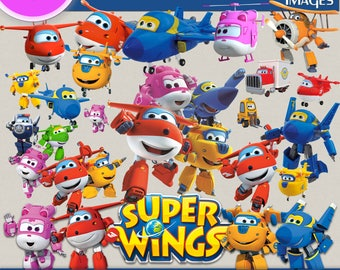 SUPER WINGS CLIPART png Images, Digital Cliparts, Stickers, Decals, Png file Format, Transparent Backgrounds, digital print, cartoon clipart