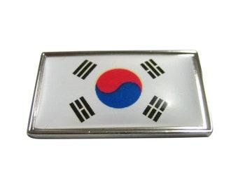 Thin Bordered Korea Flag Magnet