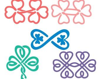 Infinity Irish Ireland St patricks day shamrock Cuttable Design PNG DXF SVG & eps File Silhouette Designs Cameo