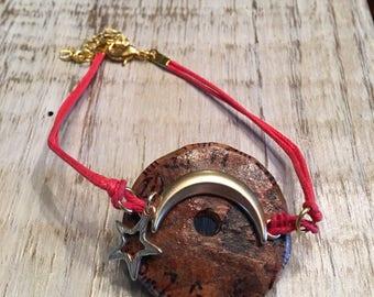 Gourd Moon & Star Bracelet