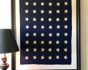 Framed 48 Star Navy Jack