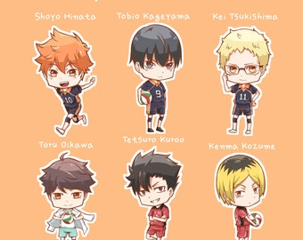 Haikyuu anime chibi vinyl stickers